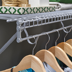ClosetMaid Fixed Mount Wire Shelving with TotalSlide in Satin Chrome