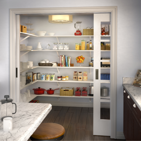 ClosetMaid ExpressShelf in White Pantry
