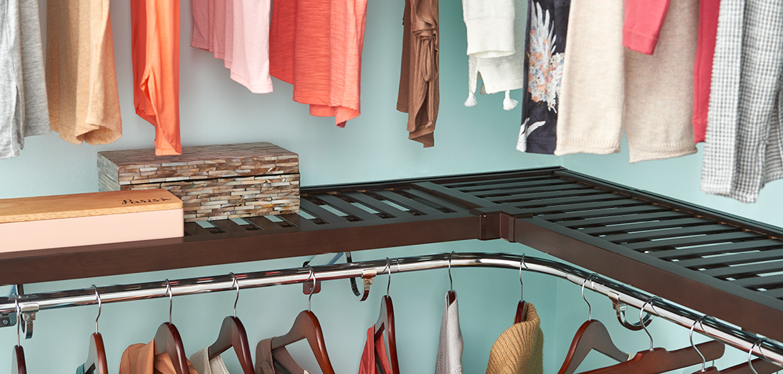 Pre Finished Shelf Amp Rod Closet System Closetmaid Pro