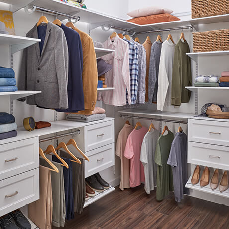 ClosetMaid Shelftrack Evo 8ft Walk In Traditional Fronts