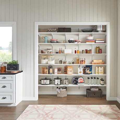 ClosetMaid Shelftrack Evo Family Pantry